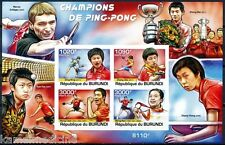 Table Tennis, Sports, Ding Ning, Zhang Jike, Wang Li, BURUNDI 2011 MNH Imperf SS