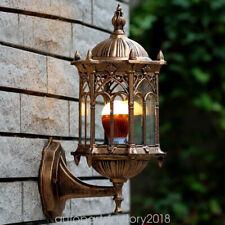 Old Castle Exterior Wall Light Fixture Antique Lantern Cage Lamp Sconce Light