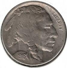 1916 D Indian Head (Buffalo) 5 Cent Nickel - AU+