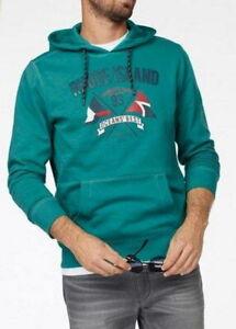 Herren Kapuzen Sweatshirt Rhode Island petrol Größe L und XL