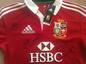 Gareth Edwards Jonathan Davies Gavin Hastings Signed British Lions Rugby Shirt