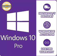 WINDOWS 10 PROFESSIONAL PRO KEY 32 / 64BIT GENUINE LICENSE KEY Fast delivery
