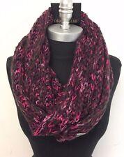 Women Winter Warm Infinity Circle Knit Cowl Long Scarf Wrap Pink/Brown/Purple