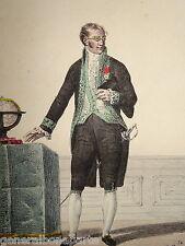 Litho Hippolyte LECOMTE COSTUME MEMBRE INSTITUT SCIENCES NAPOLEON EMPIRE 1810