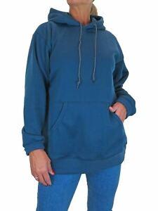 Paulo Due Women's Hooded Sweatshirt Jumper Deep Blue 10-22