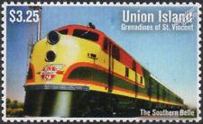 "Kansas City Southern Railway (KCS) ""THE SOUTHERN BELLE"" EMD FP9 Train Stamp"