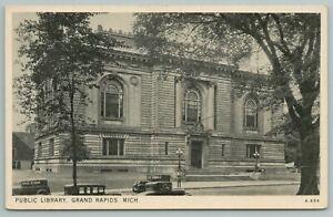 Grand Rapids Michigan~Public Library Building~Vintage Postcard
