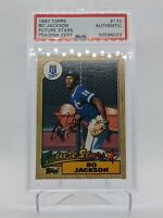 1987 Topps Bo Jackson Future Stars Rookie Autograph PSA DNA Authentic MINT RC