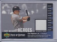 CAL RIPKEN Jr. 2002 UD Piece of History Tape Measure Heroes Jersey #CR   (B9891)