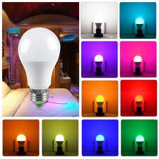 10W LED RGBW RGB 5W Lamp Colour Changing Light Bulb E27 B22 +IR Remote 5Pack