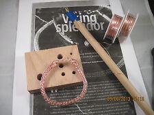 VIKING KNIT BRACELET KIT & INSTRUCTIONS, Rose Gold WIRE #0