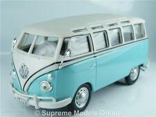 VOLKSWAGEN T1 SAMBA BUS 1/43RD SCALE MODEL TURQUOISE COLOUR EXAMPLE T3412Z(=)