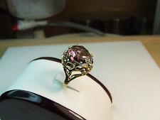 9 carat yellow gold handmade natural ametrine gemstone ring