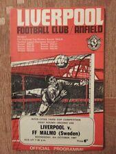 1967/68 ferias Taza Liverpool V. FF Malmo (Suecia)