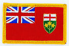 Ecusson Brodé PATCH drapeau ONTARIO CANADA FLAG PATCH EMBROIDERED