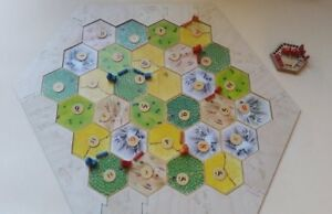 Settlers of Catan Border Frame With Ocean and Harbors plywood 10 pieces 78,5