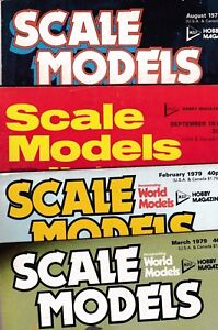 Various Issues of SCALE MODELS Magazine from May 1970 to April 1988