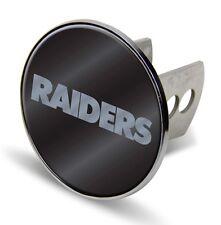 "Oakland Raiders Metal 2"" Trailer Hitch Cover Laser Cut Acrylic Logo Football"