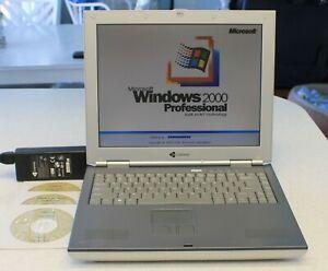 Gateway Windows 2000 SP4 Laptop,40GB HD,512MB RAM,CDRW/DVD,Floppy,Charger,CD Lot