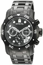 Invicta Men's Pro Diver 48mm Black IP Steel Bracelet & Case Quartz Watch 21926