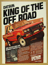 1982 Datsun King Cab 4x4 Pickup red truck color photo vintage print Ad