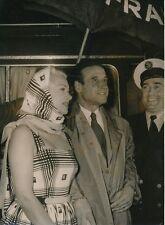 Martine Carol - Christian Jacque 1956 - Arrivée à Orly - PR 833