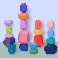 Balanciersteine Holz Stapeln Spielzeug, 20 Teilig Montessori Holzspielzeug