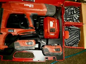 Hilti BX 3 Actuating Fastening Tool 22V- 2 Batteries, Charger & 2 boxes of nails