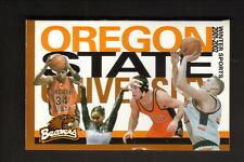 2001-02 Oregon State Beavers Basketball/Winter Sports Schedule--Dodge