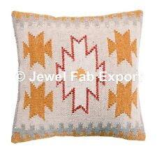 "Indian Hand Woven jute cushion cover size 18X18""  Ikea couch pillows Kilim Cases"