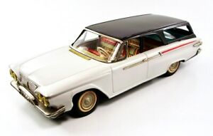"1961 Plymouth 2 Door Ranch Wagon 12"" (30.5 cm) Japanese Tin Car by Ichiko NR"