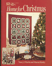 Home For Christmas Military USA Santas Quilt Pattern Book Patchwork Place