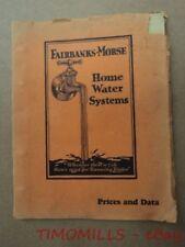 1930 Fairbanks Morse Home Water Systems Dealer Catalog Binder Z Engine Typhoon