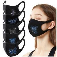 Masken Atmungsaktiv Schmetterling Strass waschbar wiederverwendbar Outdoor maske