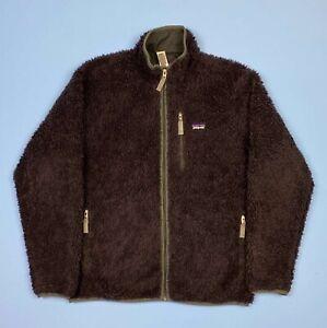 Patagonia Retro-X Deep Pile Fleece Black Classic Jacket Men's Size Large