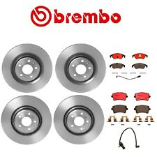 NEW For Audi Q5 S4 S5 Front and Rear Disc Brake Rotors Pads and Sensor Brake Kit