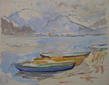 Maud GERARD (1915-2013) Huile sur bois / Ecole belge / 1948 / Fauviste Fauvist