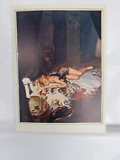 Boudoir Salon 1940s 50s  Decor Vintage print from photographers studio  Nude t