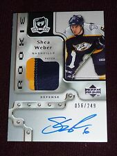 06-07 The Cup SHEA WEBER Auto Rookie 2CLR PATCH 56/249 RC * Montreal Canadiens *
