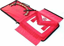 Masonic Regalia COLLAR AND APRON BAG CASE RED 01