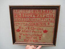 More details for a victorian embroidered school sampler c1840