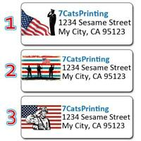 30 Custom Colorful Butterfly Stamp Art Personalized Address Labels