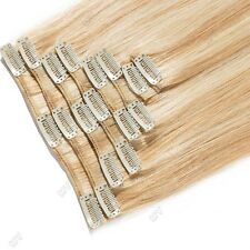 100% Natural Remy Clip in Hair Extensions 8 Full Head Real Human Hair US Seller