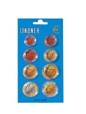 Lindner 2251 E Münzenkapseldisplay für einen Euro-Kursmünzen-Satz-100er Pack