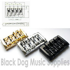 More details for quality bass guitar bridge in chrome black, gold bb404
