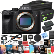 Sony a7R Iv Alpha Mirrorless 4K Camera + Deco Gear Case Extra Battery Kit Bundle