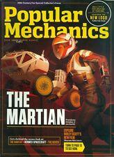 2015 Popular Mechanics Magazine: The Martian/Ridley Scott/Behind-the-Scenes Look