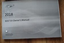 2018 CHEVROLET BOLT EV OWNERS MANUAL &  BLACK CASE   NEW TAKE OUT