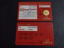 Omega Seamaster Diver Quarz watch cards