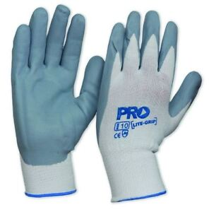 Prochoice NYLON GLOVES 2Pairs, Nitrile Foam Coated *Aust Brand- Size 8, 9 Or 10